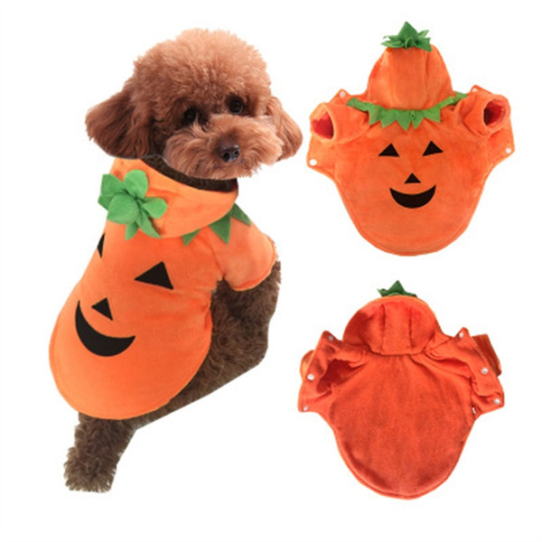 Hot Sale Pet Clothes Halloween Dog Pumpkin Devil Demo Suit Teddy Autumn Winter Dress Easy To Use 27db dd