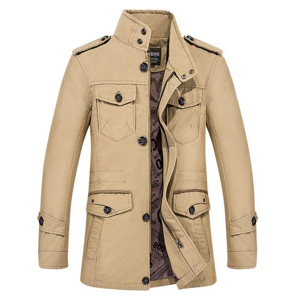 Otoño trench coat hombres trenchcoat algodón para hombre de la capa del collar del hombre largo chaquetas de un solo pecho casual abrigo L-XL de gran tamaño