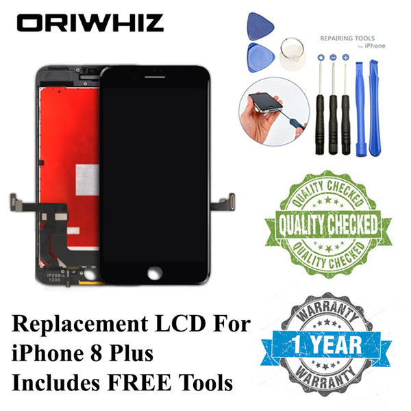 Top Grade For iPhone 8 Plus Lcd Screen Display Touch Digitizer Assembly Replacement with Gift Tool Kit 1PCS Free Shipping