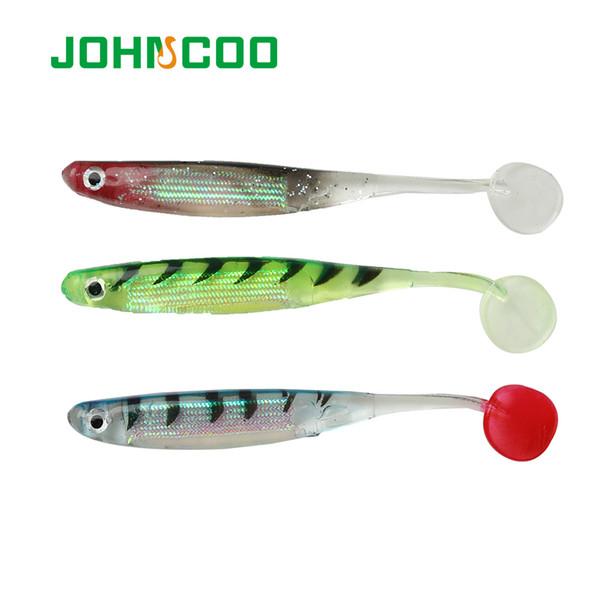 JOHNCOO 6pcs Fishing Lure Soft Bait 11cm 4.7g Shad Fish Silicone Bass Minnow Bait Swimbaits Plastic Lure Pasca Jig Lure Y18100806