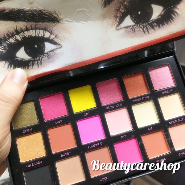 top popular Free Shipping By EPacket 18 Colors Eyeshadow Palette Rose Gold Textured Palette Makeup Eye Shadow Beauty Palette Matte Shimmer with Gifts 2019