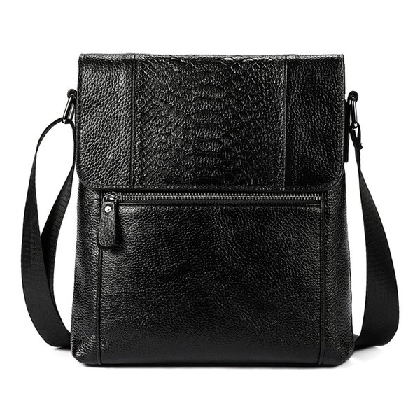 8467008168 2018 Man Vertical Genuine Leather bag Man Messenger Business Big Capacity  Handbags Durable Postman Single Shoulder Bags Male