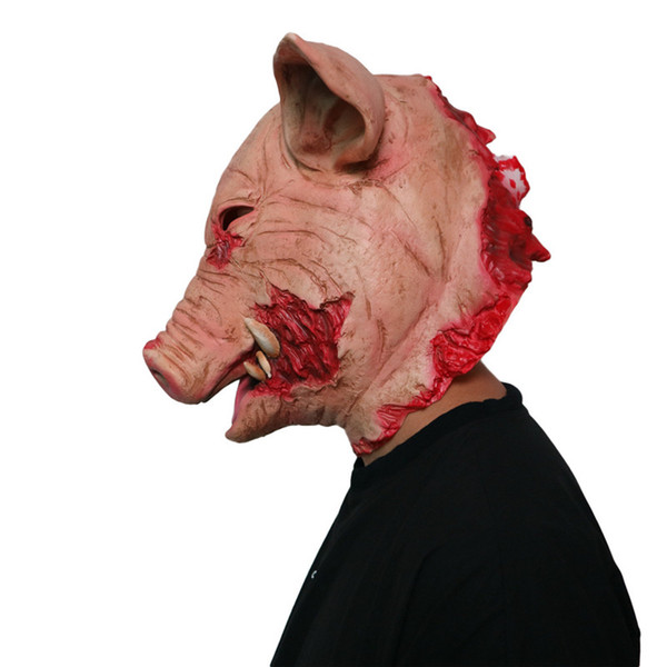 Halloween New Party Christmas Carnival Masquerade Horror Thriller Pig Mask Latex Animal Adult Props cosplay props