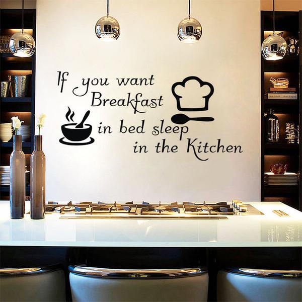 Acquista Adesivi Murali Decorativi Cucina Se Vuoi Colazione A Letto Sleep  Quote Stickers Murali Coffee Home Decor A $7.24 Dal Moderndecal | DHgate.Com