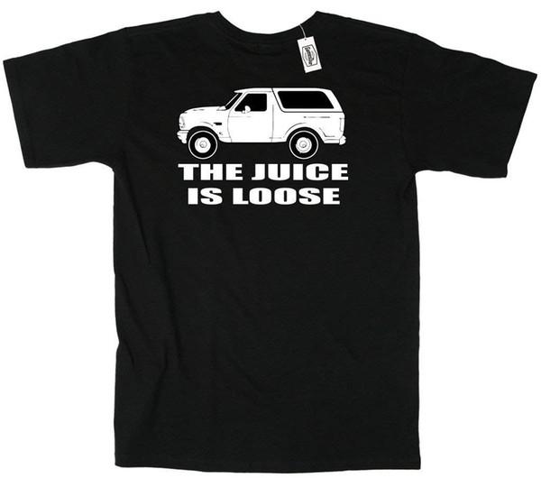 "OJ White Bronco ""Juice is Loose"" T-Shirt Mens 2018 fashionable Brand 100%cotton Comfortable t shirt"