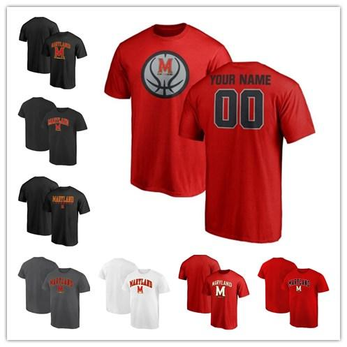 Mens Maryland Terrapins Fanatics Branded Game Ball Basketball Personalized Campus T-Shirt red black grey white size S-XXXL free shipping