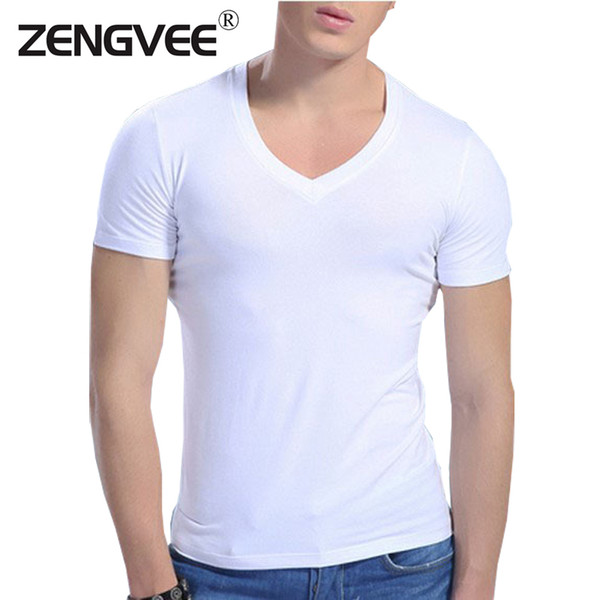top popular Comfortable men cotton 6 Color V neck short sleeve undershirts sweat and proof underwear(Size:M L XL XXL) 2019