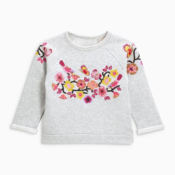 Pequeño maven 2-7Years Otoño Nueva Flor de Dibujos Animados Niña del niño de la camiseta del bebé Ropa para niños para niña Boy Sweater Fleece