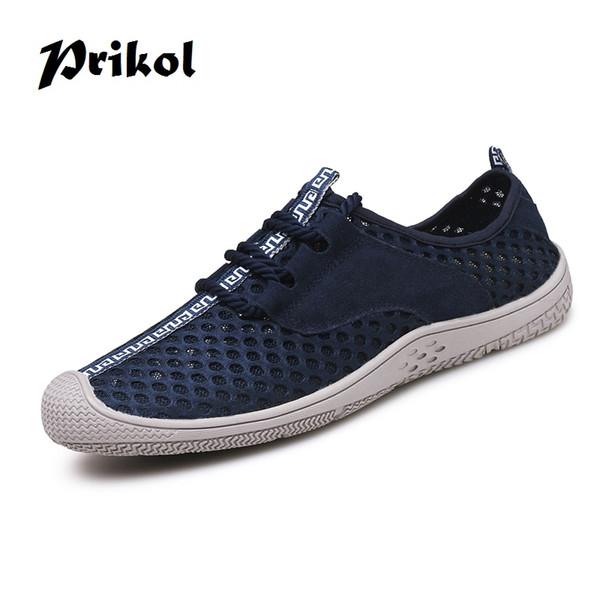 Prikol Summer Men Hiking Shoes Holes Design Climbing Waterproof Outdoor Trekking Sneaker Soft Athletics Sport Mountain Shoe