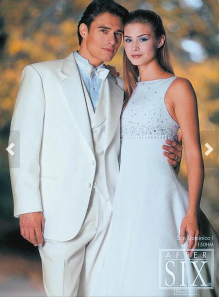 New hot fashion slim men's suit wedding groom / groomsman dress men's formal suit three-piece suit (jacket + pants + vest)