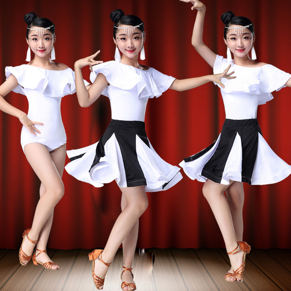 84cee82be child kid children professional latin dance dress for girls flamenco rumba  costumes ballroom dancing dresses kids