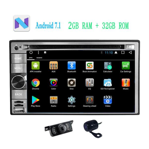 Front&Backup Camera Android 7.1 Car Stereo Navigator in Dash Car Radio car DVD CD Player Navigation Map 6.2'' Bluetooth WiFi GPS