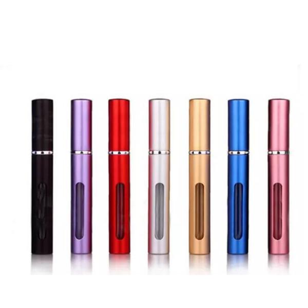 5ml Mini Portable Spray Refillable Perfume Atomizer for perfume Colorful Travel Spray Bottle Empty Metal Perfume Bottles Make up Tools