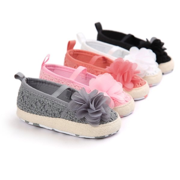 Wholesale Christening baptism newborn baby girl headband set soft soled leather toddler shoes branded first walker booties