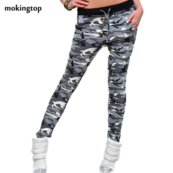 mokingtop Womens Camouflage Pants Leginsy Casual Fitness Leggings Soft Joggings Leginsy Damskie pantalones mujer camuflaje#112