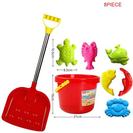 Children's large beach shovel playing sand toy set bucket shovel snow baby play sand dredging tool boy