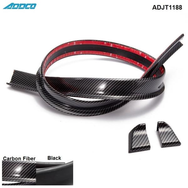 Tansky - Black Carbon Fiber 4.9ft (150 cm / 1,5 m) 45MM corpo Bagagliaio posteriore del tetto spoiler Ala Trim Mold Sticker ADJT1188