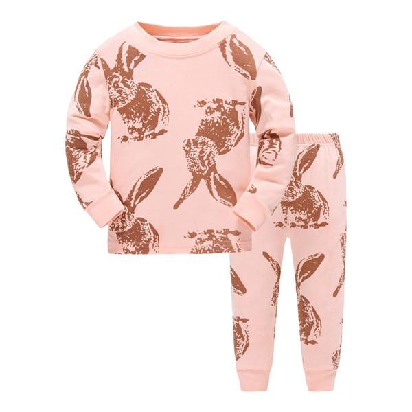 3757cd6ff34f38 Compre P820, Coelho, Pijamas Das Meninas Das Crianças, Conjuntos Longos Da  Roupa De Noite Dos Desenhos Animados Da Luva Para 1 7 Anos De Begonior, ...