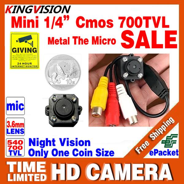 Very Small!CMOS 700TVL Mini Audio Mic HD CCTV Analog Camera Security Color Led Infrared Night Vision Surveillance Video LowPrice