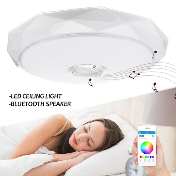 Großhandel Moderne LED Deckenleuchten Bluetooth Lautsprecher Intelligente  Fernbedienung Musik Lampe Wohnzimmer Schlafzimmer Möbel Decor Von ...
