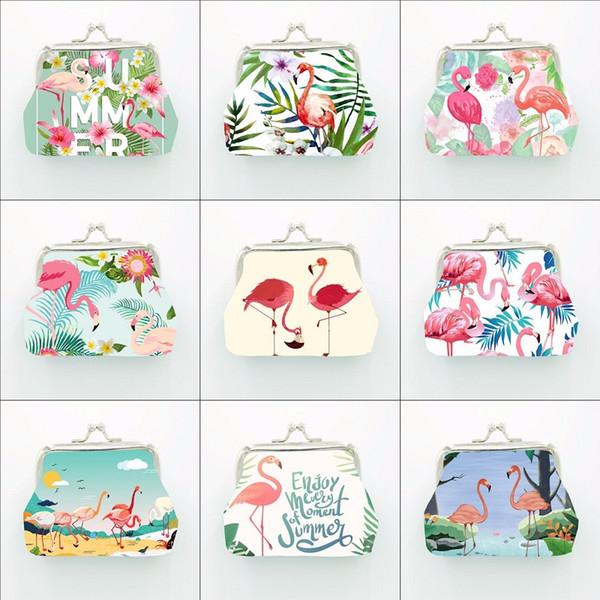 Nuovo design esclusivo Fenicottero portamonete per Hawaii Party Decor Portamonete Borsa Cartone animato Frizione Portafogli Zero Birthday Party Supplies