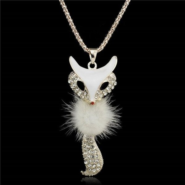Fur Fox Lovely Stylish Charm Vivid Crystal Necklaces & Pendants Necklace For Women