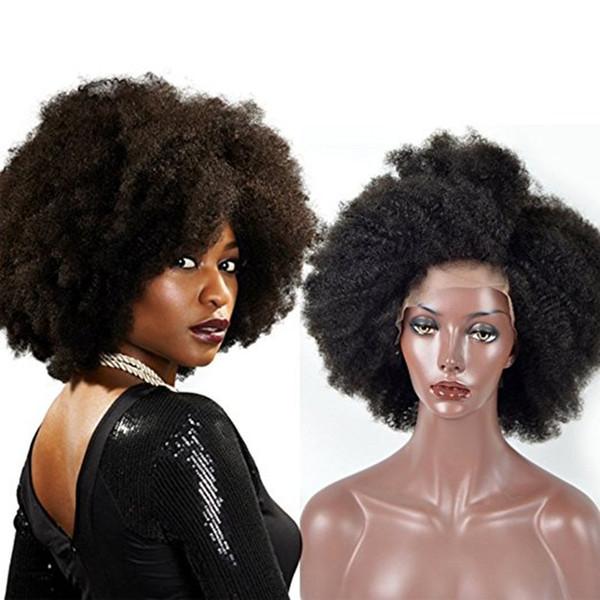 ZhiFan frente del cordón pelucas rizadas afro estilos de pelo afro rizado indio mujeres pelucas de encaje indio 16 pulgadas 130% densidad DHL ENVÍO GRATIS