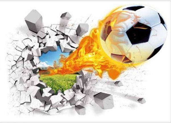 Großhandel 3D Fußball Wandaufkleber Kreative Auto Tapeten Für Kinderzimmer  Home Schlafzimmer Decration Home Decra Wand 2 Designs 50 Stücke Von ...