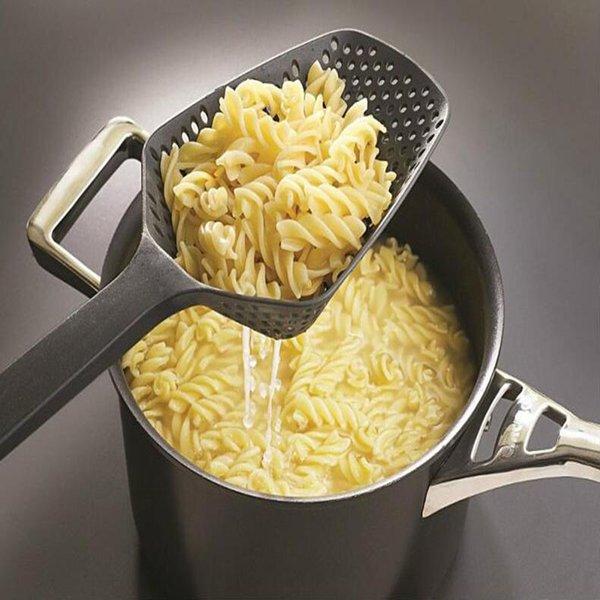 2Pc Black Cooking Shovels Vegetable Strainer Scoop Nylon Net Spoon Large Colander Soup Filter Kitchen Tools