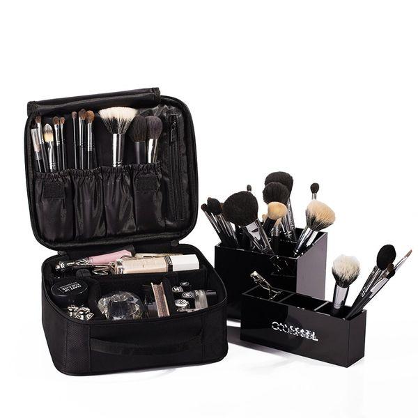Belleza bolsa de cosméticos de alta calidad de viaje organizador cosmético de la cremallera portátil de maquillaje bolsa de diseñadores troncal bolsas de cosméticos
