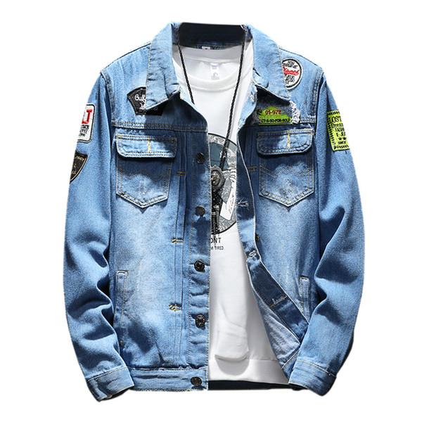 Erkek Denim Ceket Artı Boyutu ceket 5XL Rahat Bombacı Ceketler Erkekler Yüksek Kaliteli Adam Vintage Jean Ceket Streetwear Chaqueta Hombre