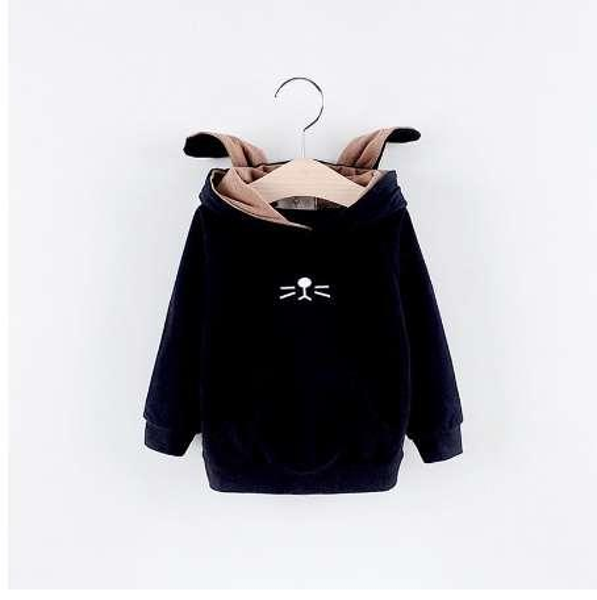 Autumn Children Baby Babi Kids Boys girls Long Sleeve cartoon cute Rabbit Ear Hat Hooded Sweatshirts Outwear Coats C412