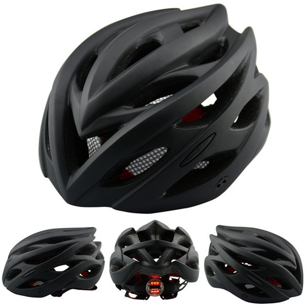 2018 Bicycle Helmets Matte Black Men Women Bike Helmet Back Light Mountain Road Bike Integrally Molded Cycling Helmets L050