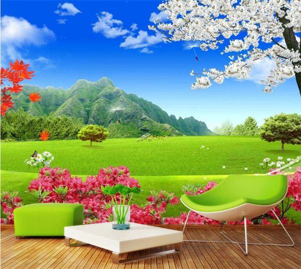 Custom Mural Wallpaper For Walls 3D Nature Landscape Green