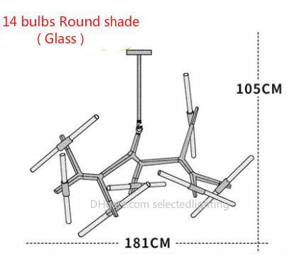 Lampadina rotonda in vetro da 14 lampadine