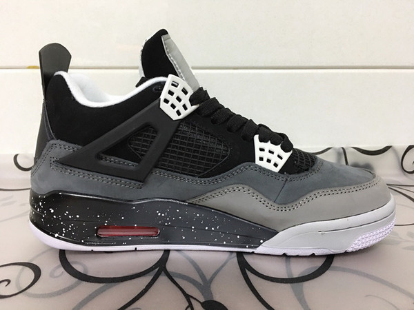 New 4 iv fear pack men ba ketball hoe black grey 4 port neaker outdoor athletic fa hion trainer ize 8 12