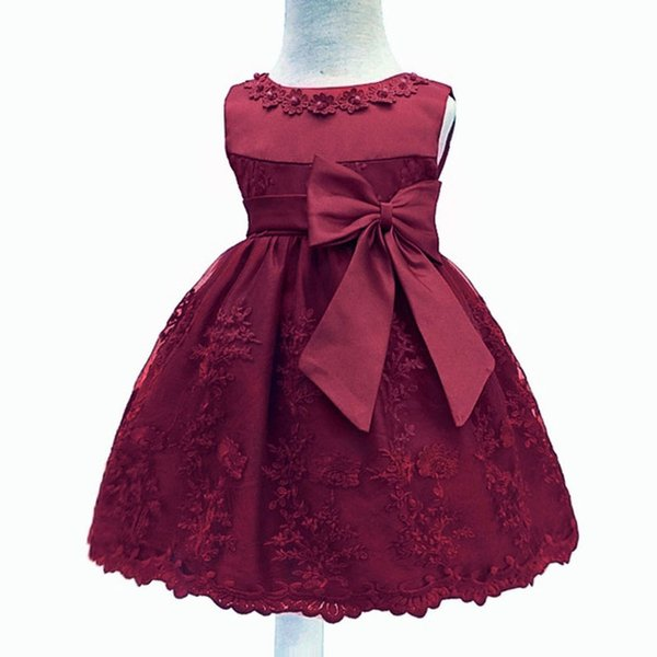 Baby Girls Dress For Girl 1 Year Birthday Kids Baby Princess Dress Christening Gown Infant Party Newborn Clothes