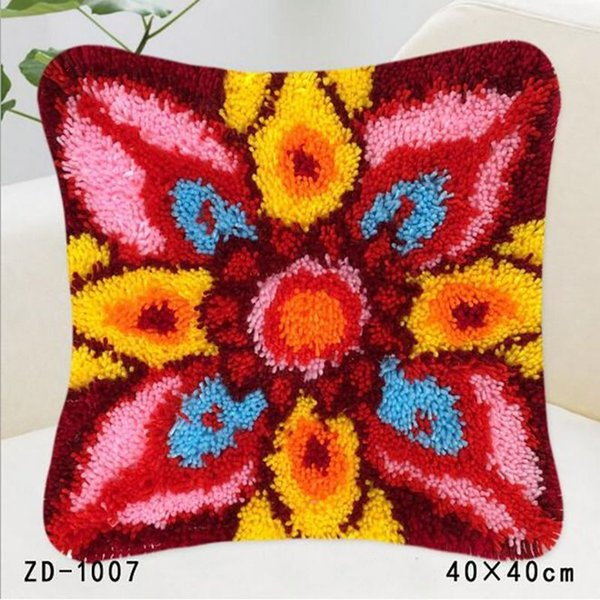Diy Pillow Cover Durable Colorful Flowers And Plants Style Square Shape Creative Design Hidden Zipper Pillow Cushions Home Decor