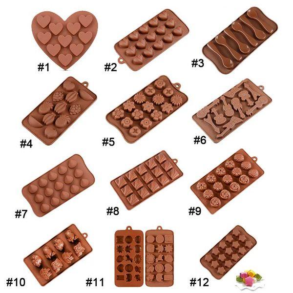 12 Stili Stampi in silicone Stampi per torta al cioccolato Cottura al forno Decorazione per la cucina Accessori per la casa Decorazioni per la festa nuziale