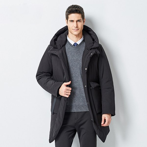2019 Winter Jacket Men New Business Casual Long Warm Male Coat Fashion Mens  Overcoat Windbreaker Clothes Man From Asiabeddingmall, $126.91