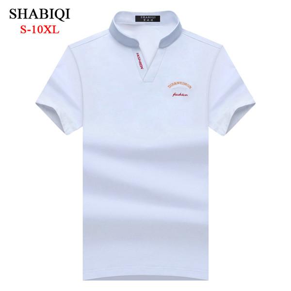 SHABIQI Camisa de hombre de marca clásica Camisa de hombre para hombre Camisa de manga corta s Camisa de diseñador Talla grande 6XL 7XL 8XL 9XL 10XL