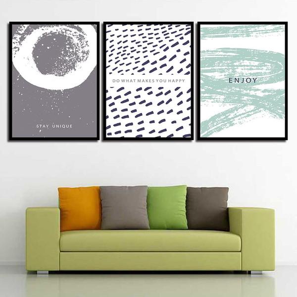 Acheter Hd Imprimer Image Affiche Mur Art Salon Chambre Séjour Unique Résumé Vague Point Nordique Toiles Peintures Décoration De La Maison De 2 89 Du