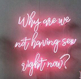 top popular Why Are We Not Having Sex Right Now Neon Light Sign Home Beer Bar Pub Recreation Room Game Lights Windows Glass Wall Signs 24*20 inches 2021