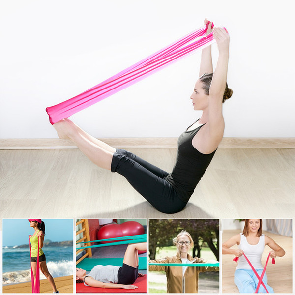 Hewolf Pilates Rubber Stretch Resistance Band 1.2m Arm Back Body Fitness Tight Power Wristband Gym Sport Pull Stretch Equipment