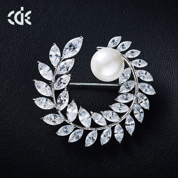 Simal wheat ear fashion brooch high-end Korean version of the simple pearl brooch ladies pin manufacturers custom wholesale