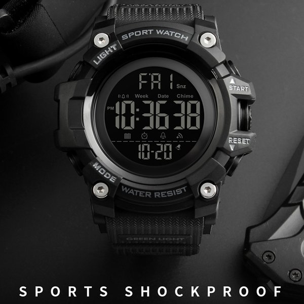 Men's Outdoor Sports Watches Countdown Stopwatch Men Watch Top Brand Luxury Digital Wrist Watch Waterproof LED Electronic Clock