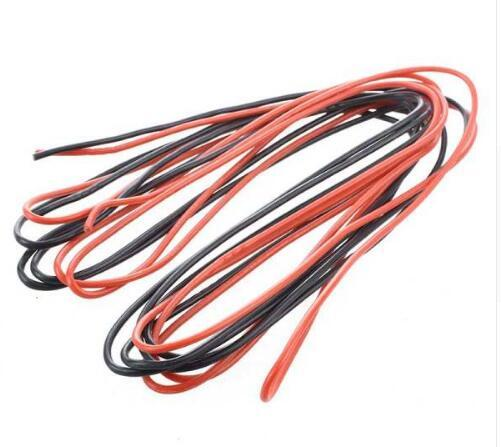 best selling 2x 3M 16 Gauge AWG Silicone Rubber Wire Cable Red Black Flexible