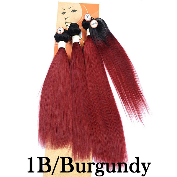 1B/Burgundy Ombre Light Red