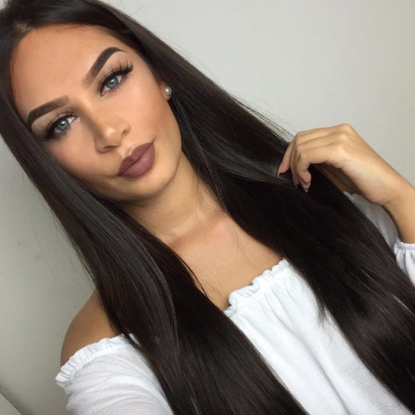 Lace Front Wigs For Women Pre Plucked Hairline Malaysia Remy Hair Straight Full Lace Human Hair Wigs With Baby Hair