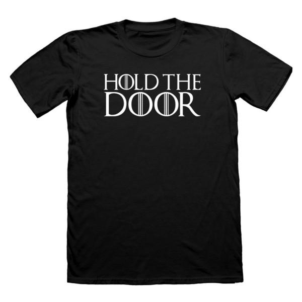 HOLD THE DOOR HODOR tshirt t-shirt T SHIRT GAME OF THRONES TEE LANISTER